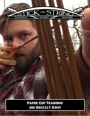 Stick and String Traditional Archery Magazine Paper Cup Training Magazine