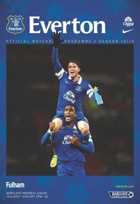 Everton Programmes Everton v Fulham Magazine