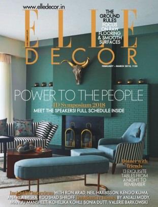 Elle Decor India February - March 2018 Magazine