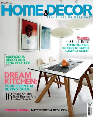 Home Decor Malaysia Magazine January 2012 Issue Get