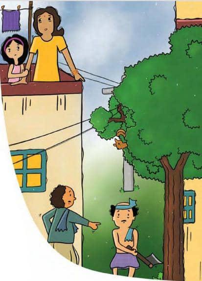 मिशि ने की पेड़ों की देखभाल