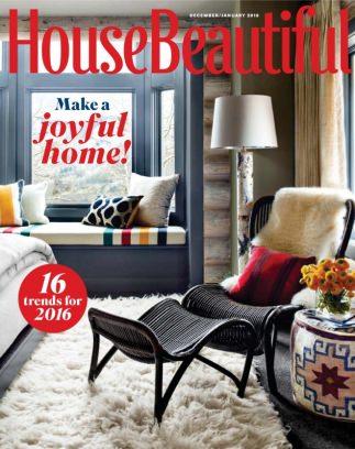 House Beautiful Magazine Prepossessing House Beautiful Magazine Decemberjanuary 2016 Issue  Get Your Review