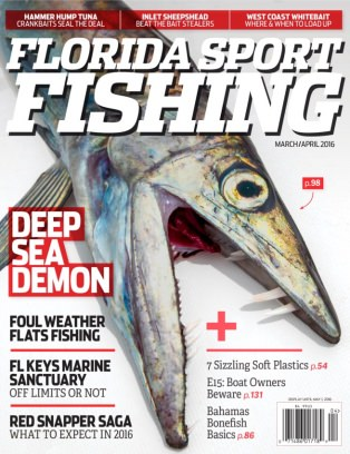 Florida sport fishing magazine march april 2016 issue for Florida sport fishing magazine