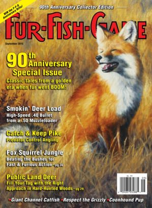 Fur fish game magazine september 2015 issue get your for Fur fish and game