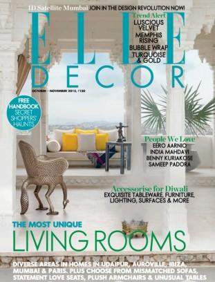 Elle Decor India Magazine October November 2015 Issue