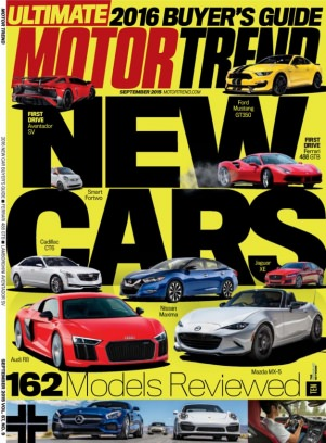 motor trend magazine september 2015 issue get your