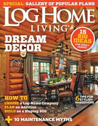Log home living magazine august 2015 issue get your for Log home magazines
