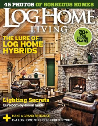 Log home living magazine march 2016 issue get your for Log home magazines