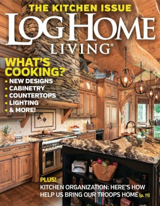 Log home living magazine may 2016 issue get your digital for Log homes magazine