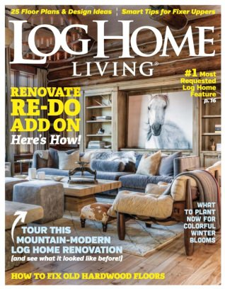 Log home living magazine september 2016 issue get your for Log homes magazine