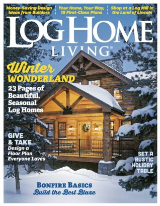 Log home living magazine december 2016 issue get your for Log home magazines