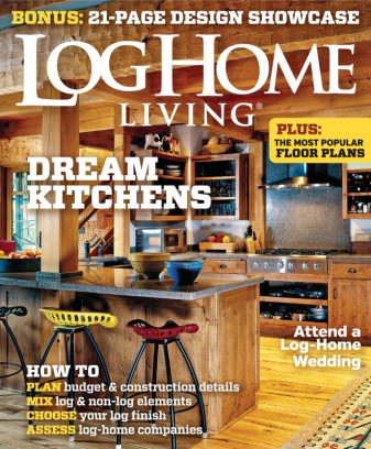 Log home living magazine january february 2015 issue for Log home magazines