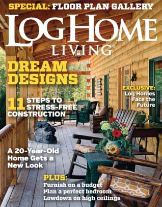 Log home living magazine march 2015 issue get your for Log home magazines