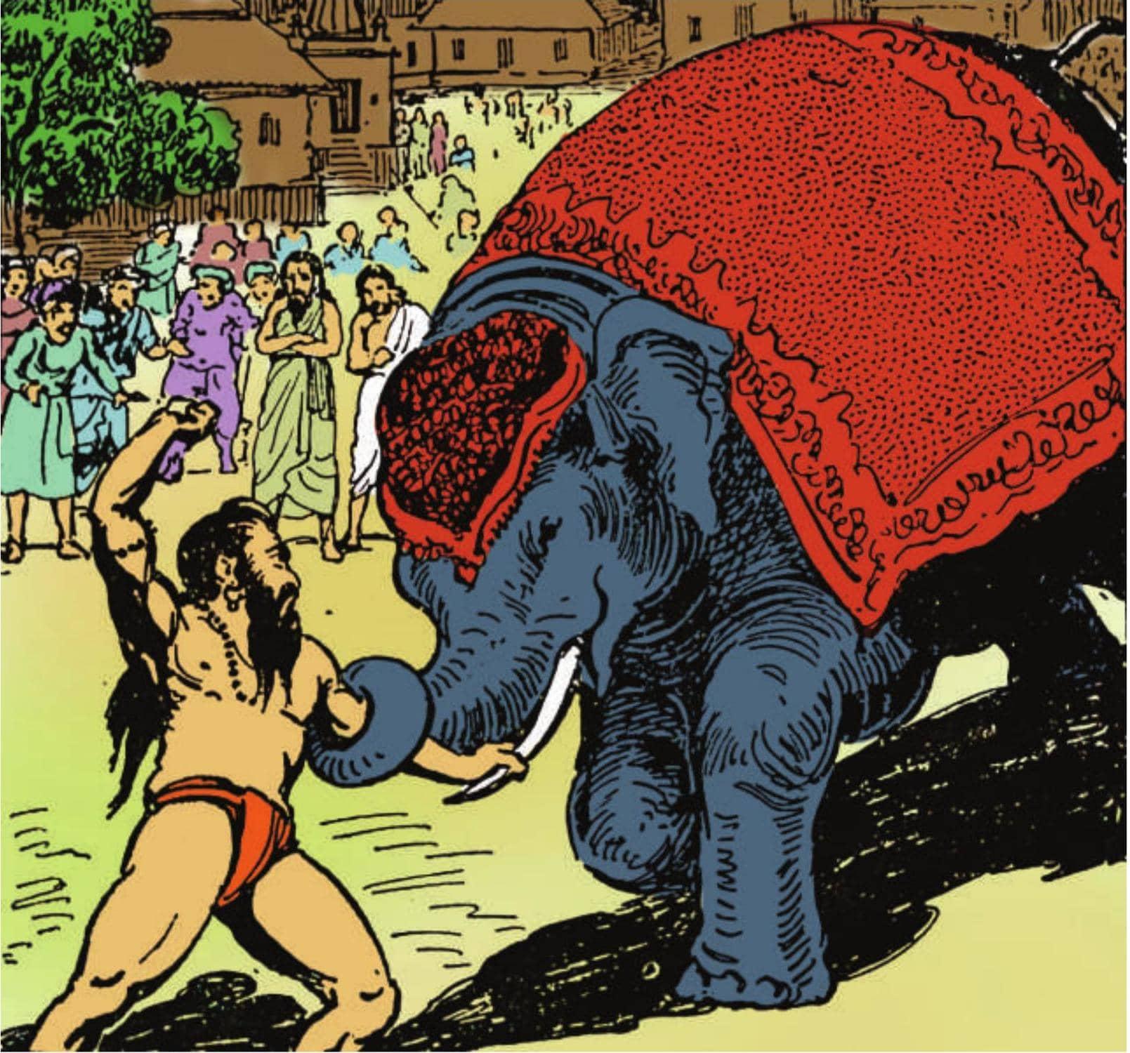 गुरुकृपा का ऐसा बल कि उन्मत्त हाथी हुआ निर्बल