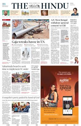 The Hindu, India's national newspaper since , is published by THG Publishing Private Limited, Chennai, India. The English language daily is best described as classic yet contemporary. It is known for the high quality of its journalism and excellent presentation.