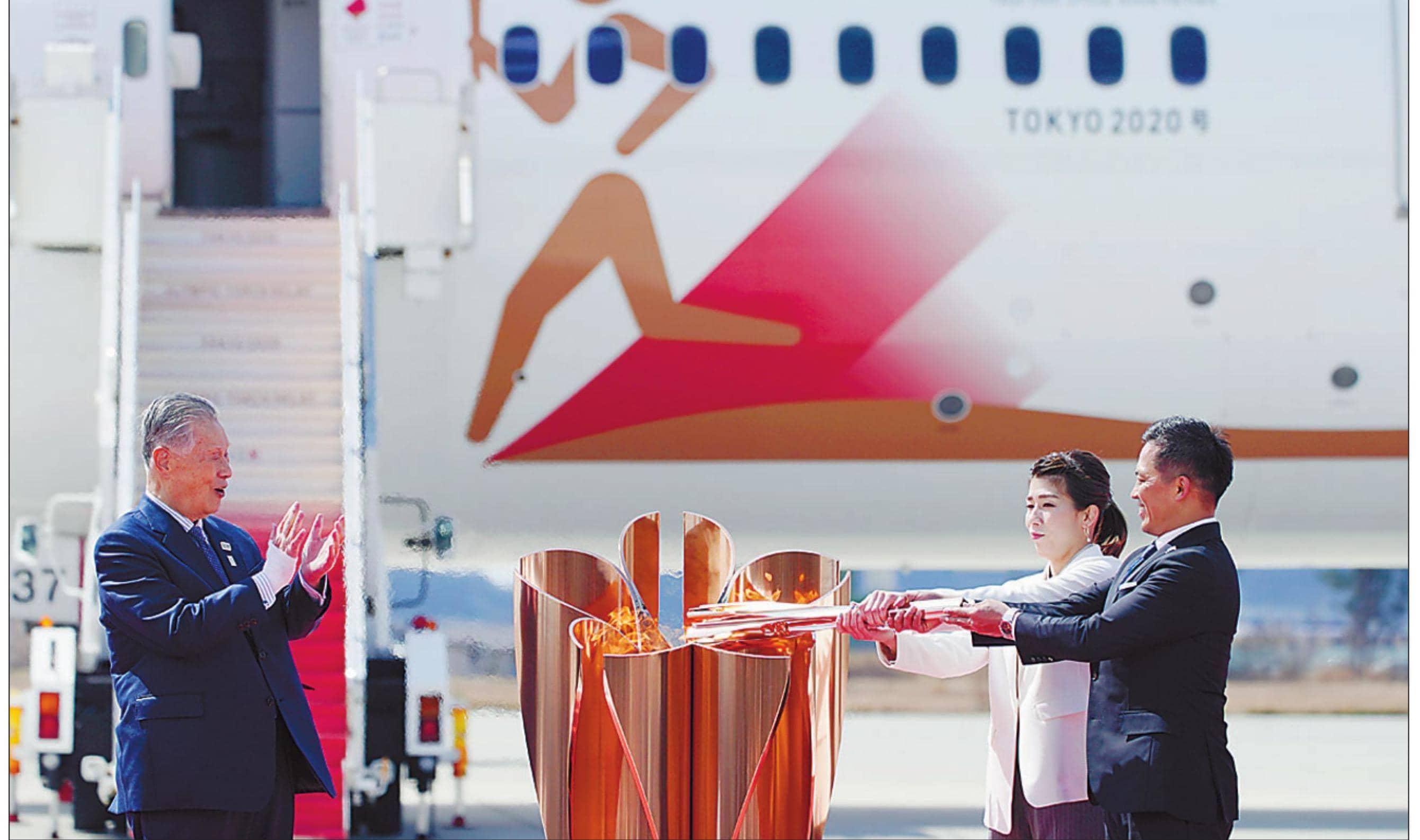 कोरोना केडर के बीच ओलिम्पिक मशाल जापान पहुंची