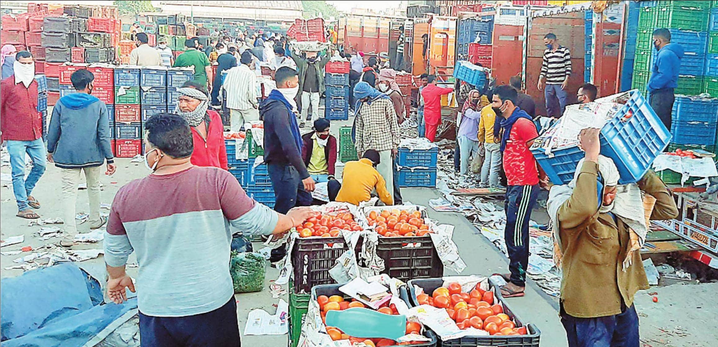 नई सब्जी मंडी बंद होने की चर्चा के बाद नाममात्र आए कारोबारी