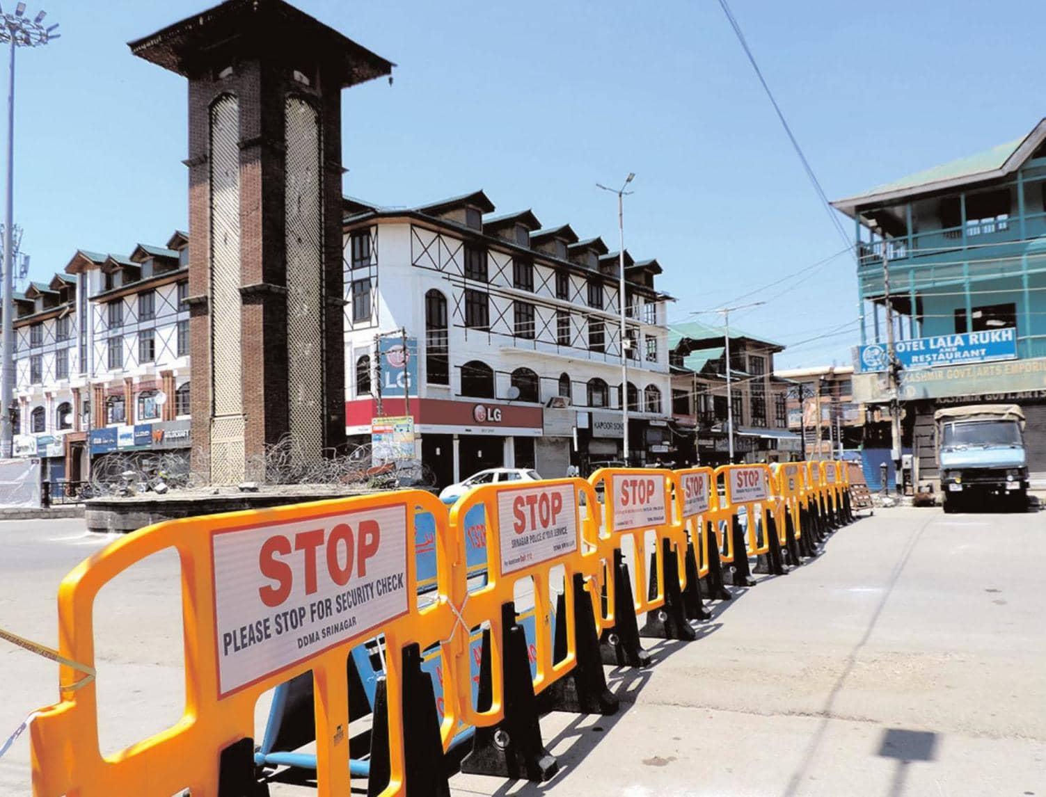 लॉकडाउन के कारण कश्मीर में जनजीवन प्रभावित