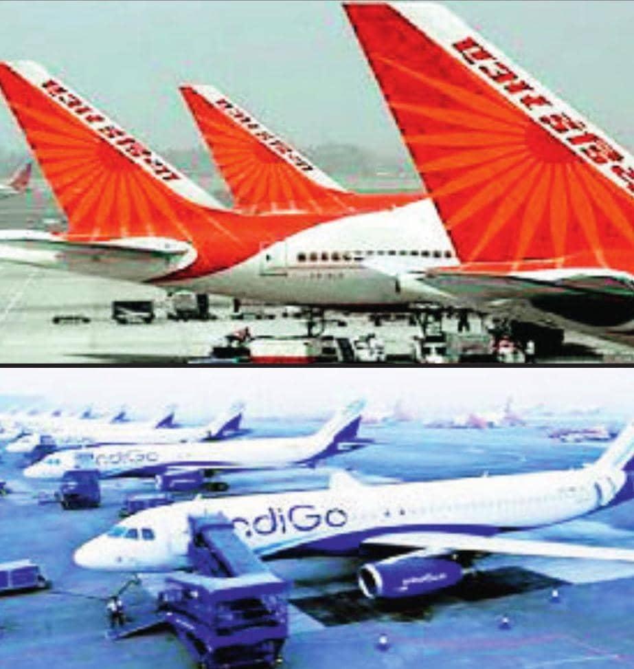 कोरोना वायरस : इंडिगो 25% और एअर इंडिया 5% वेतन में करेगी कटौती