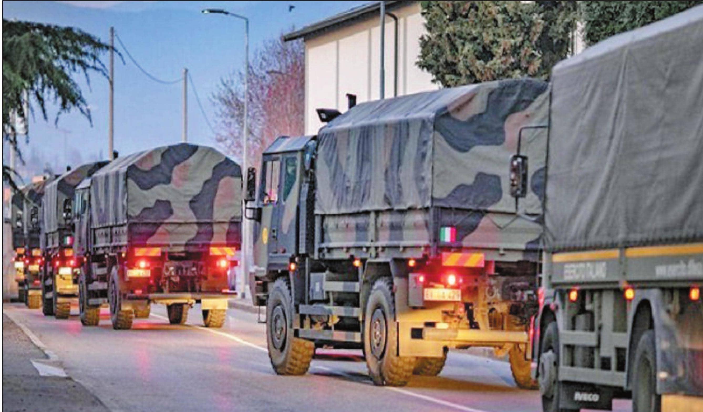 इटली में कोरोना वायरस से मरने वालों के अंतिम संस्कार के लिए बुलाई गई सेना