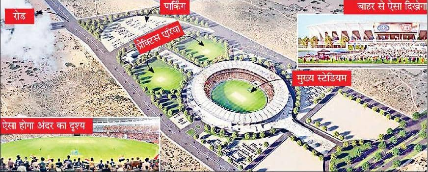 100 एकड़ में 350 करोड़ रुपये की लागत से जयपुर में बनेगा दुनिया का तीसरा बड़ा स्टेडियम, 75 हजार होगी दर्शक क्षमता