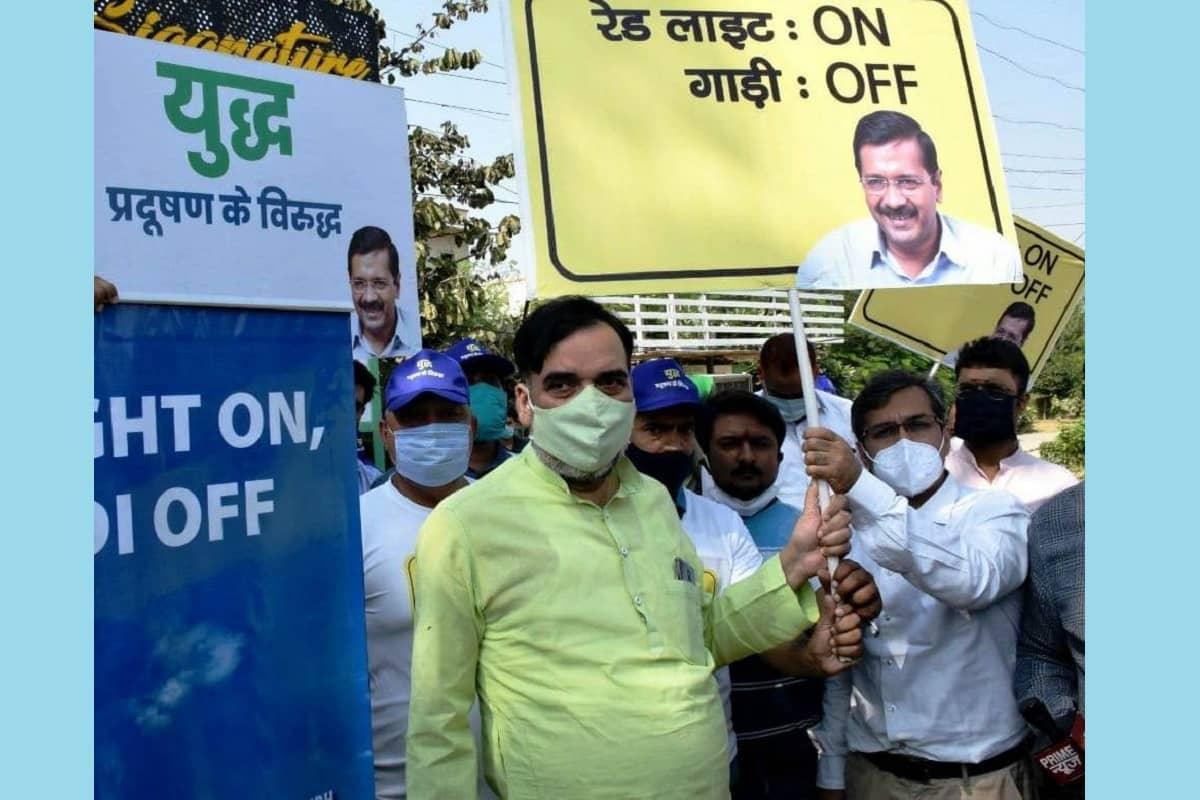 'रेड लाइट पर गाड़ी बंद कर प्रदूषण के खिलाफ जंग में शामिल हों दिल्लीवासी'
